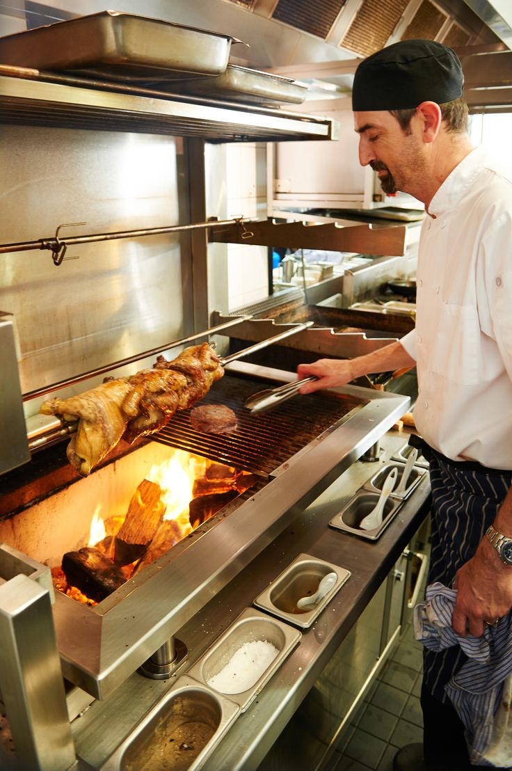 BWG Steakhouse's wood & coal fired grill