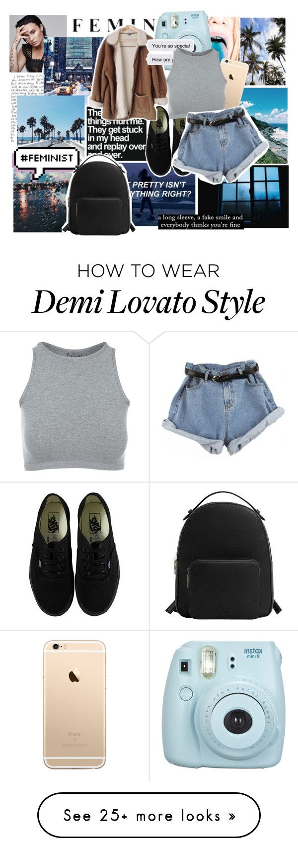 """I'm in love with the shape of you"" by hannancat on Polyvore featuring GET LOST, Vans, Fujifilm, MANGO and Free People"