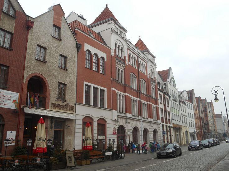 The Old Town district of Elblag city. Northern Poland