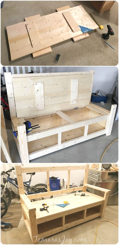 DIY Outdoor Storage Bench, Ana White Inspired