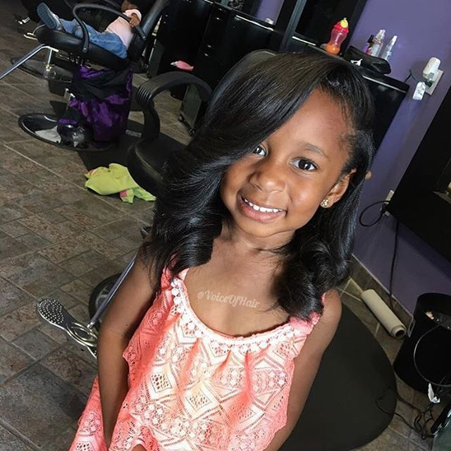 She is the cutest❤️ Hair blown out by @yadah_yadah at #miamisalon @truthhairstudio  #voiceofhair========================== Go to VoiceOfHair.com ========================= Find hairstyles and hair tips! =========================