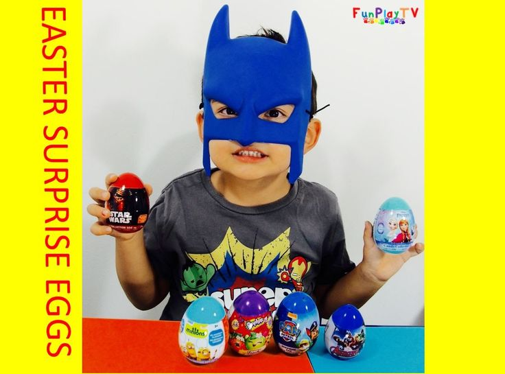 FunPlayTV presents Minions Frozen Star Wars Avengers Shopkins Paw Patrol 2016 surprise easter eggs collection. SUBSCRIBE to FunPlayTV https://goo.gl/fZjblu  We are counting down to Easter and had so much fun opening these eggs and guessing what are in each of them. We love Minions Frozen Star Wars Avengers Shopkins Paw Patrol.