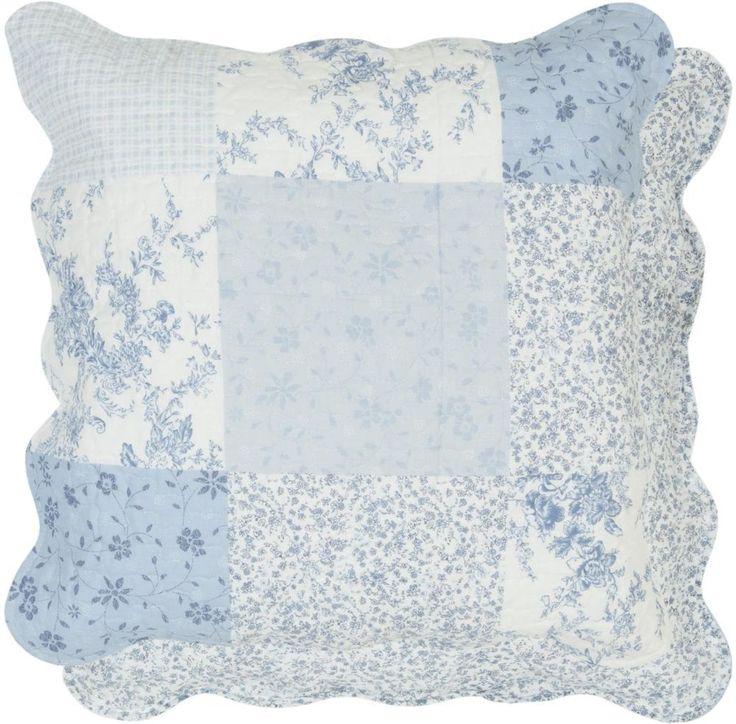 Kissenhülle 50x50 cm blau Patchwork