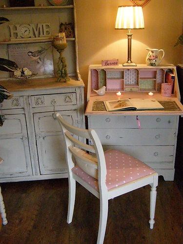 A beautifully re-vamped vintage bureau.