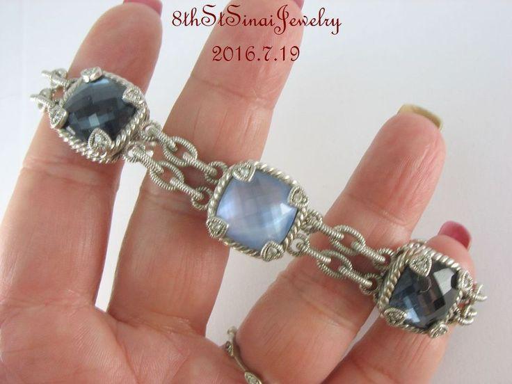 RETIRED J156277 Judith Ripka Sterling Shades of Blue Gemstone Doublet Bracelet  #JudithRipka #Tennis