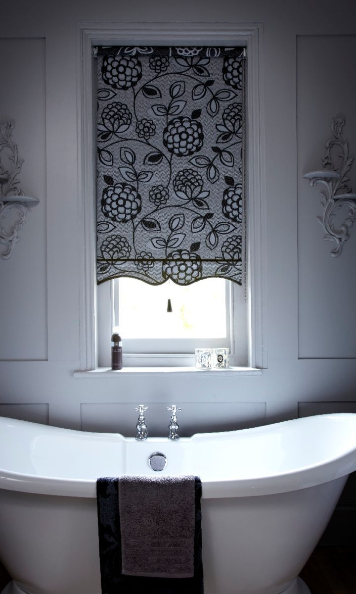 Black bathroom blinds - Be Inspired By A Key Catwalk Trend This Season And Introduce A Monochrome Palette To Your Home With Striking Blinds And Curtains From Hillarys