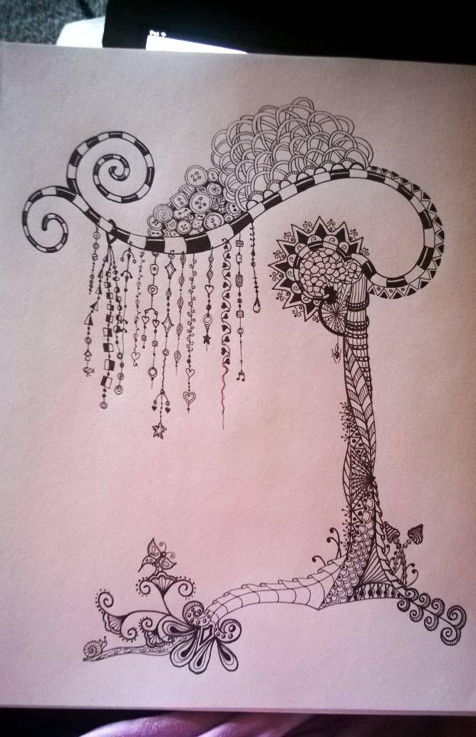 """LOVE the way Linda incorporates the Zenspirations Dangles into her design! """"Unfinished...trying out the 'dangles'. 4/14 Linda H."""""""