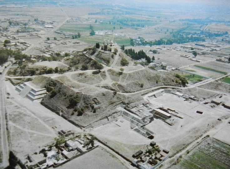 history-museum:Aerial photo of the Great Pyramid of Cholula, the largest pyramid in the world. Located in Puebla, Mexico. 3rd century BC to 9th century AD. [1024x752]