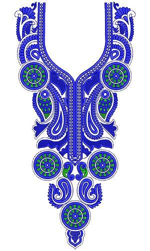 9280 Neck Embroidery Design