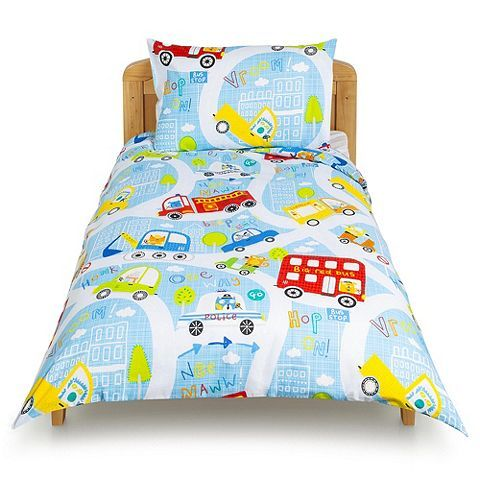 Tesco direct: Tesco Transport Toddler Duvet Set