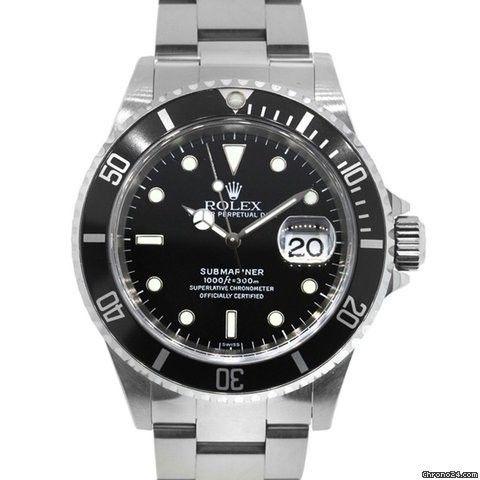 Rolex 16610 Submariner Stainless Steel Black Dial Watch