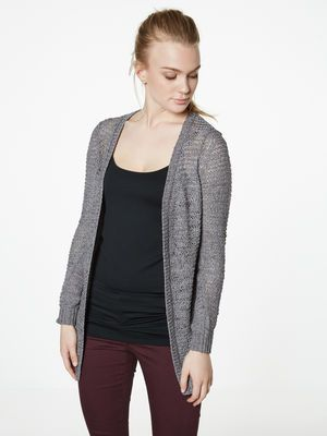 LANGERMET LANG CARDIGAN, Medium Grey Melange