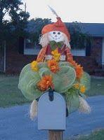 Cute fall scarecrow deco mesh mailbox decoration-tutorial