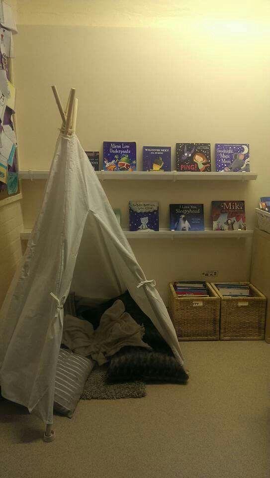 Cosy area / minimalistic book area / calm spaces / communication friendly spaces