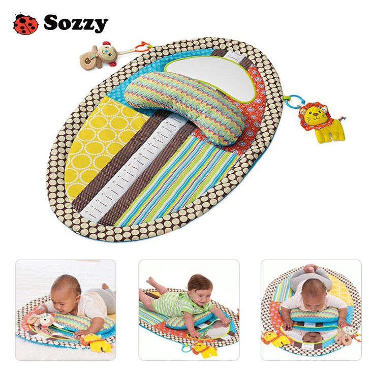 Sozzy Baby Early Learning Educational Play Mat Game Pad Pillow Crawling Blanket Toys for Children Rattles Safety Mirror #Affiliate