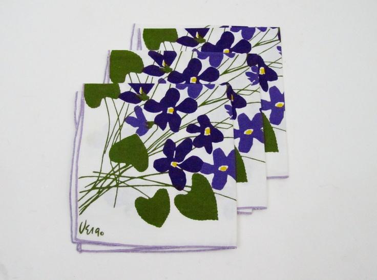 Vera Napkin Set / Vintage VERA Neumann Floral by 4birdsvintage