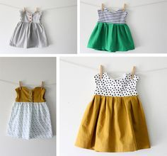 delia-creates-baby-dresses. Geranium pattern