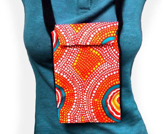 Australian Aboriginal Art Passport Bag by AboriginalOzArt on Etsy