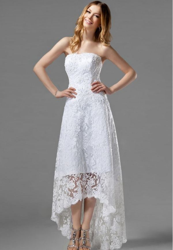 hi low wedding dresses | Home > Wedding Party > Simple High-low Wedding Dress with Lavish ...
