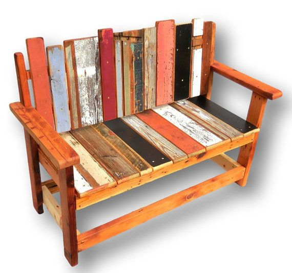 Ordinaire Reclaimed Wood Bench Rustic Bench Rustic Furniture By WoodzyShop