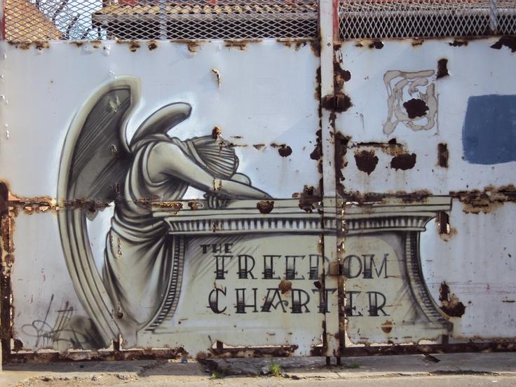 Cape Town Graffiti: The Freedom Charter