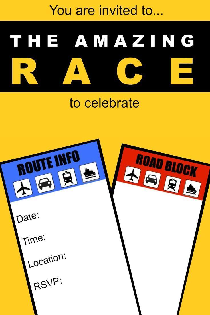 Amazing race party invitation template google search amazing race pinterest race party for Google invitation template