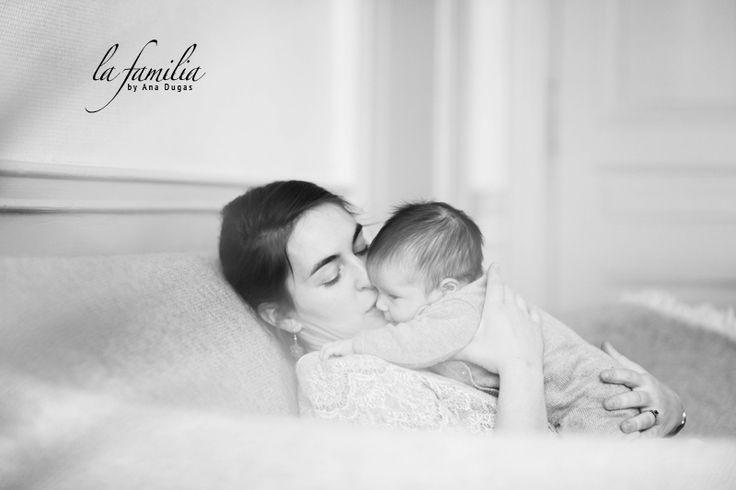 Ana Dugas portrait photo famille noir et blanc
