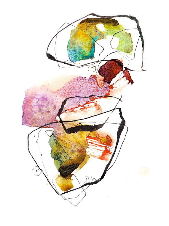 Abstract watercolor painting, prints available in my Etsy shop https://www.etsy.com/ca/shop/TangoArtPrints #tangoartprints