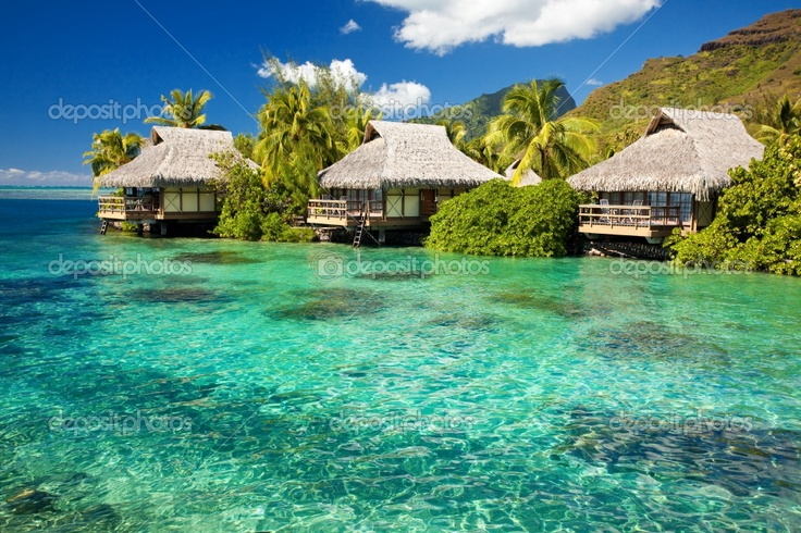 caribbean hut on water - Google Search