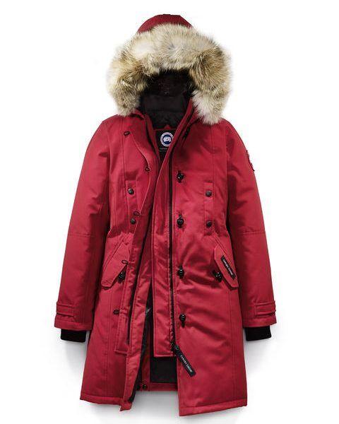 Canada Goose KENSINGTON PARKA FUSION FIT VROUWEN STIJL 2506LA – Rood. Gepolijste stijl met een cinched in de taille en knie-grazen warmte.