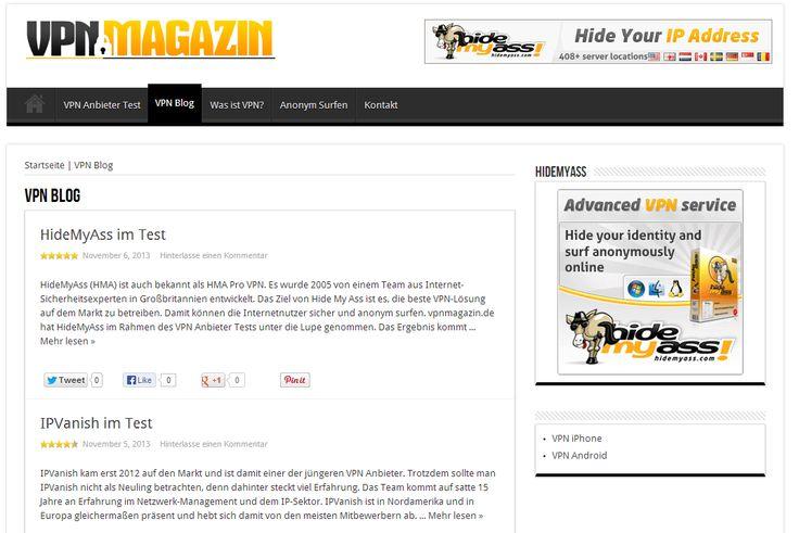 http://www.vpnmagazin.de/vpn-blog/ - anonym surfen Make sure you check out our website. http://www.vpnmagazin.de/was-ist-vpn/ http://www.vpnmagazin.de/anonym-surfen/ https://www.facebook.com/bestfiver/posts/1431719053707732