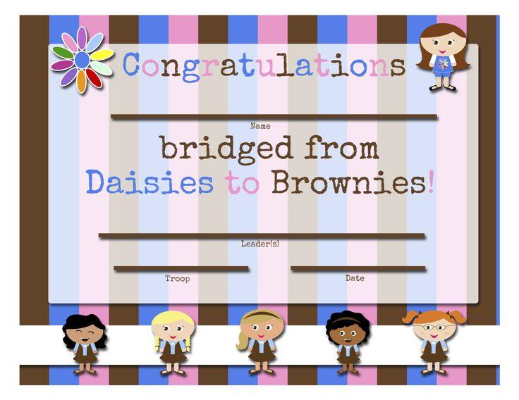 Girl Scouts: FREE Printable Bridging Certificates