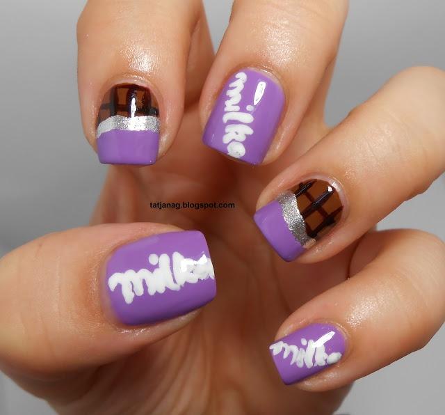 Milka Chocolate Bar Nails