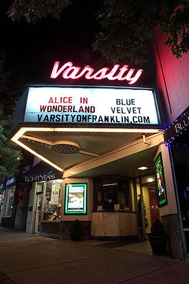 The Varsity theater, a long time Chapel Hill tradition, features wonderful movies from Casablanca to Harry Potter each day of the week. Swing by for a fantastic film at a bargain price!