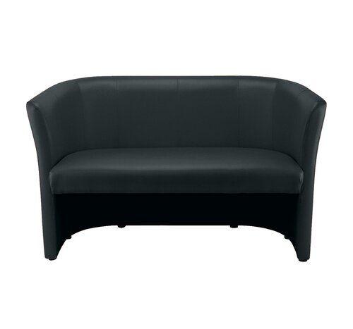 2 Sitzer Sofa Club Nowy Styl Polsterfarbe Kunstleder In Schwarz Sofa Love Seat Decor