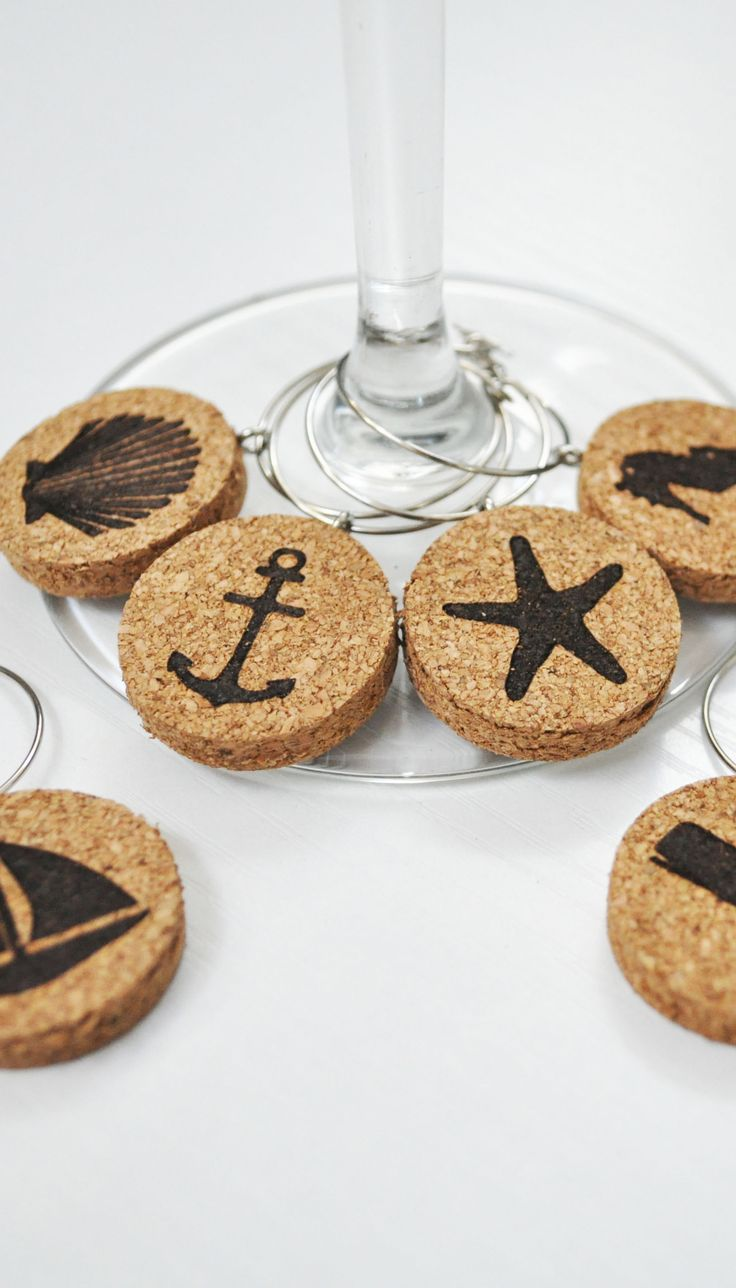 Starfish and anchors and shells - oh my! These nautical beach themed wine charms are so much fun for any party!