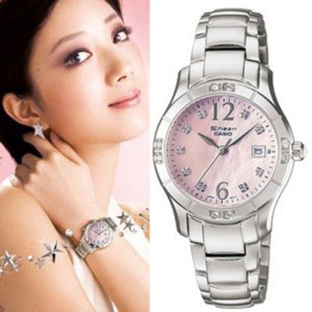 ลองเข้ามาดูสินค้า นาฬิกาข้อมือ Casio Sheen 3-Hand Analog รุ่น SHN-4019DP-4ADR นาฬิกาข้อมือผู้หญิง
