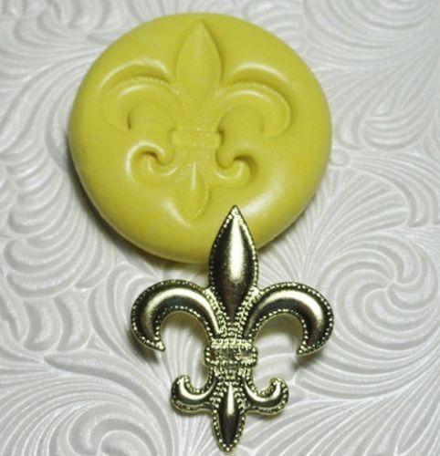 Silicone Resin Polymer Clay Fondant Flexible Push Mold Fleur de Lis 2006 | eBay