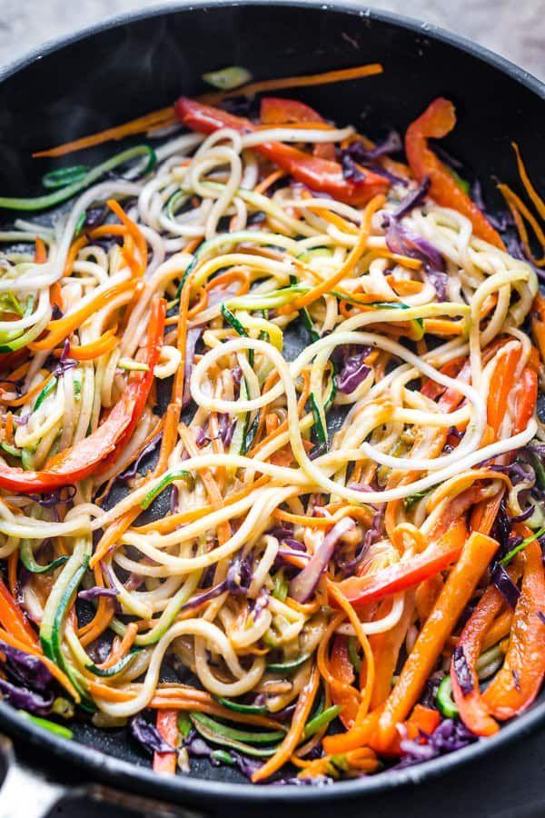 Thai Peanut Zucchini Noodles Recipe Zoodles Recipe In 2020 Zucchini Noodle Recipes Vegan Zoodle Recipes Zoodle Recipes