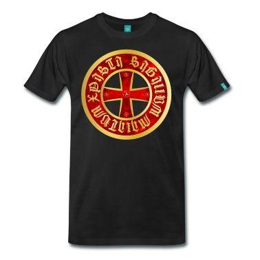 Cross Knight Templar Crusader Shield gothik gold T-Shirt | Spreadshirt | ID: 14429327