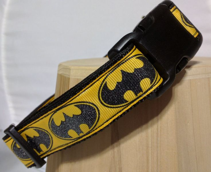 Batman Dog Collar - Glitter Bat Dog dog collar or leash FREE Shipping by ThePawMaster on Etsy