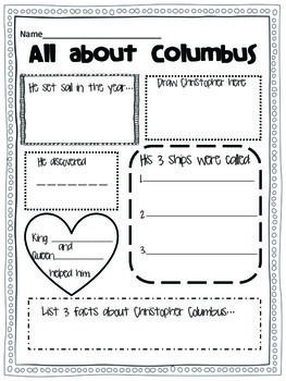 CC cycle 3 week 1 must remember for Columbus day!