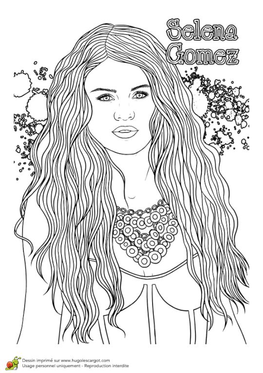 33 best coloriage images on pinterest coloring pages - Coloriage selena gomez ...