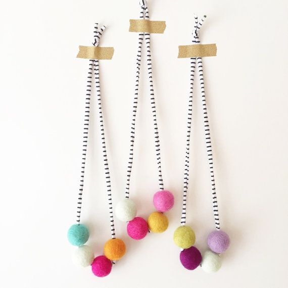 Woolie Ball Necklace by HoorayEveryday on Etsy