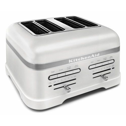 KitchenAid Pro Line Series Frosted Pearl White 4-Slice Automatic Toaster
