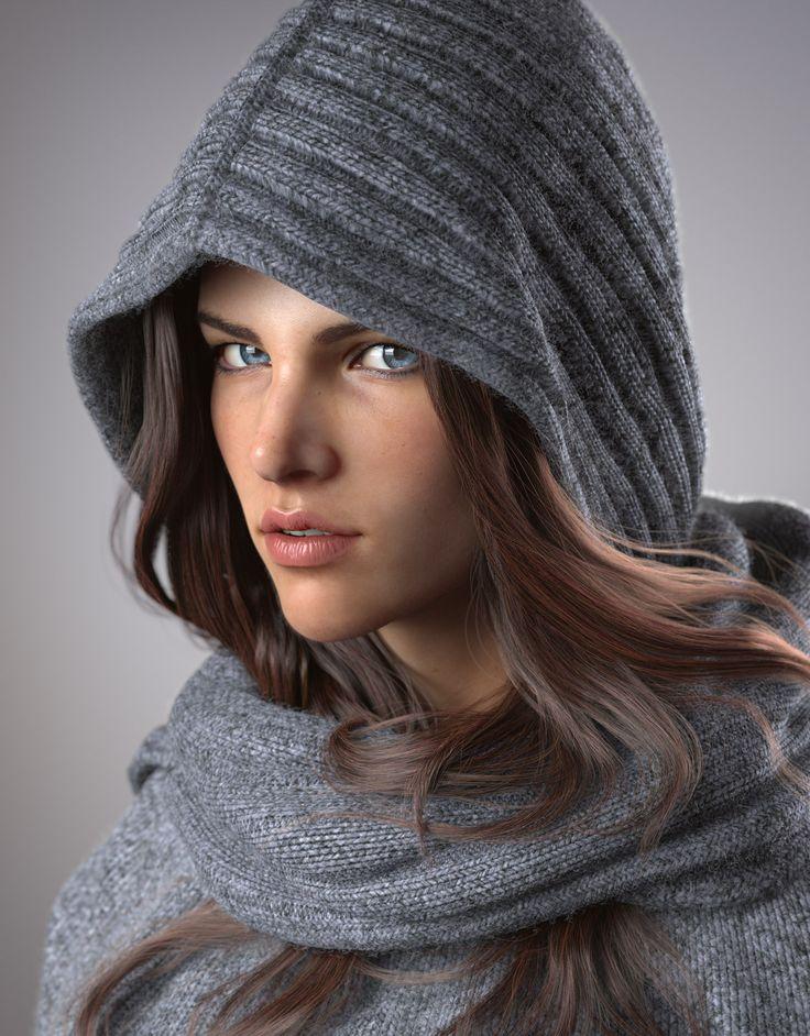 Portrait of Sylvia Geersen- #cg #3d #Zbrush #Maya #render #realistic #realism #woman #girl