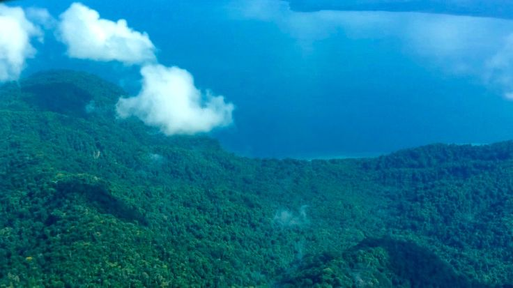 Views of Golfo Dulce Rainforest & Ocean Retreat from the plane (Golfo Dulce, Costa Rica).