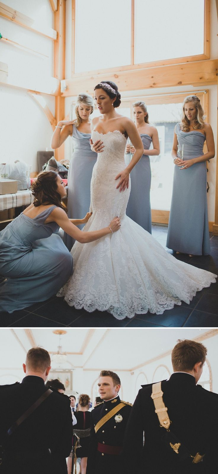 A stunning fishtail 1920s influenced dress from 'The Princess And The Soldier' wedding from Rock My Wedding. #weddingideas