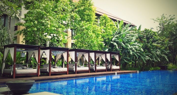 Exclusive access for suite guests and adults only Conrad Suites Pool when staying at Conrad Suites room type