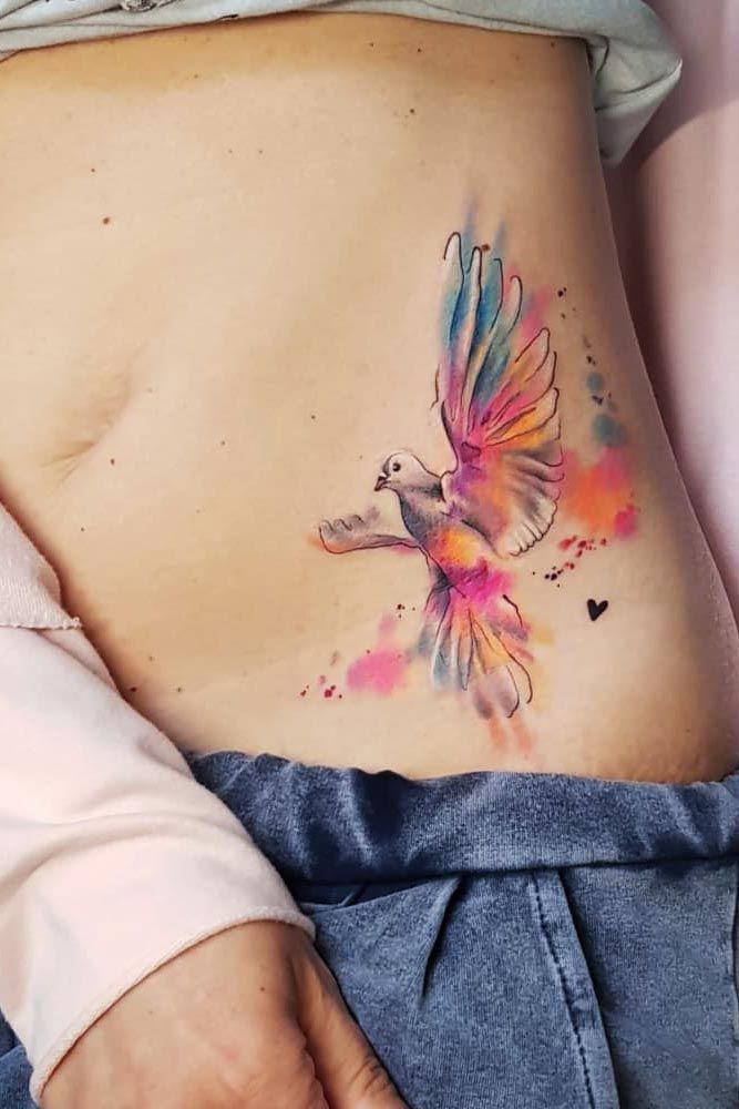 51 Gorgeous Looking Watercolor Tattoo Ideas Belly Tattoos